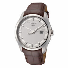 Tissot Men's T0354101603100 Couturier 39mm Silver Dial Leather Watch