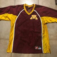 GAME WORN NIKE MINNESOTA GOLDEN GOPHERS BASKETBALL WARMUP SHOOTING SHIRT L