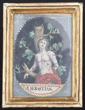 santino incisione 1700 S.SEBASTIANO M. dip. a mano