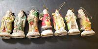 OLD WORLD SANTA FIGURINES, 7 piece Christmas Ornaments