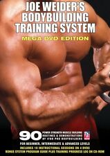 Joe Weider's Bodybuilding Training System DVD MEGA EDITION  SET weights bench