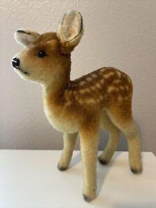 Fawn Deer Vintage German Wool Plush - Made in US ZONE Germany - Steiff?