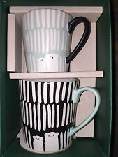 Starbucks Bears 🐻Kid & Adult Mug Set Holiday 2016 W/Gift Box (Rare) Sold out