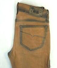 NWT DIESEL Women's Beige 0815U Grupee Super Slim Skinny Denim Jeans 24 x 32