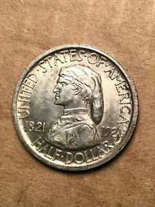 1921 MISSOURI SILVER COMMEMORATIVE HALF DOLLAR CHOICE ORIGINAL  UNC