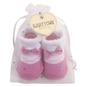 Baby Girls Ballerina Socks in Organza Gift Bag
