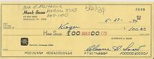 Grand Ole Opry LEGEND Hank Snow SIGNED CHECK