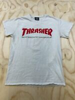 VTG ULTRA RARE THRASHER SKATEBOARD MEN SMALL RESURRECTION CRUCIFY CROSS T-SHIRT