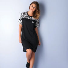 Womens adidas Originals Womens Inked Knee Dress in Black-White - 6