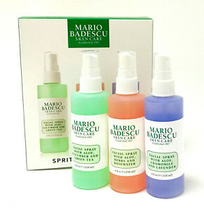 MARIO BADESCU Spritz Mist Glow 3x Facial Spray Set Hydrating Refreshing Soothing