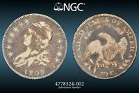 1809 Capped Bust Half Dollar XXX Edge Variety O-102 NGC Choice VF25 Old Original