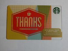 2014 - Thanks - Holiday Issue Starbucks Card - New & Never Swiped