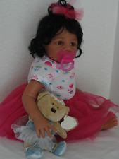 "Reborn 21"" African American/Ethnic/Biracial Baby Girl Doll ""Kyra"" (Eva Helland)"