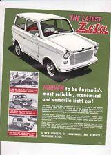 1965 LIGHTBURN ZETA Australian 2 Page Brochure Sheet MICROCAR