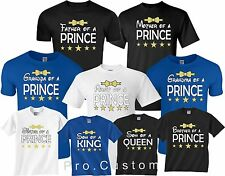 FAMILY BIRTHDAY GRADUATE Prince men Boys MOM DAD FAMILY matching  T-Shirts S-4XL