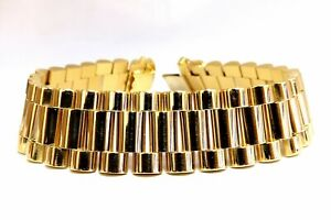 Mens Rolexx Link Bracelet 18 Karat