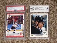 Wayne Gretzky 1990 Score + Upper Deck Promo PSA 9 BGS Beckett BCCG 10 RARE LOT