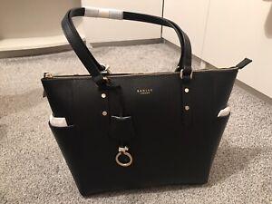 Ladies Black Silk Street Radley Large Tote Bag (BNWT)