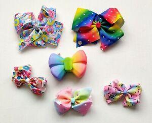 Jojo Siwa  Large & Small Bows &  Glitter Rainbow Purse Bundle
