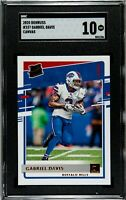 2020 Donruss Rated Rookie Canvas Gabriel Davis RC Bills #337 SGC 10 Comp PSA BGS