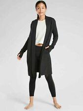 Athleta Canopy Wrap in Nirvana Plus Size 1x Black Sweater Top