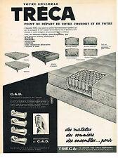PUBLICITE ADVERTISING 034   1963   TRECA  matelas
