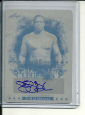 BUSTER DOUGLAS PRINTING PRESS PLATE AUTOGRAPH #1/1 2013 LEAF SPORTS HEROES