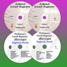 2000+ Parish Registers BMD of England / Britain UK (4x DVDs ) genealogy records