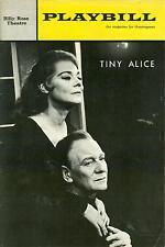1965 Playbill TINY ALICE John Gielgud Irene Worth Edward Albee Eric Berry