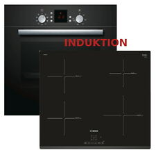 Induktion Herd Set 3D Bosch Autark Backofen + Induktion Glaskeramik Kochfeld NEU