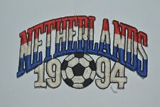 Vintage 1994 NETHERLANDS Team 1994 USA World Cup Embroidered Iron On Patch