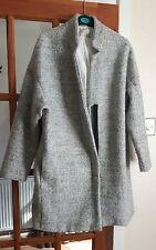 zara grey oversized wool coat