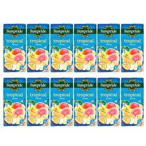 Sunpride Tropical Juice Drink, Pack of 12 x 1 Litre Apple Mango Orange Passion