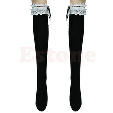 b2d10191f Lace Top Ribbon Stockings Thigh-Highs Over Knee Lolita Socks Girl s Cosplay