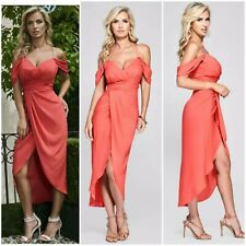 🧡 NWT GUESS BY MARCIANO CAMYLLE OFF-SHOULDER DRAPED GOWN SIZE XS 🧡