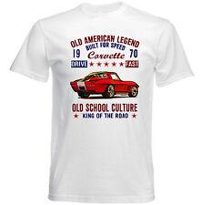 Vintage American Car Chevrolet Corvette-Nuevo Algodón Camiseta