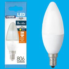6x 8W (=60W) Pearl Candle LED SES E14 Small Edison Screw Light Bulb Lamp
