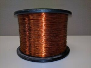 24 AWG Gauge Enameled Copper Magnet Wire 10LB 7000ft +/- 220C Coil Winding