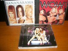 BANANARAMA - WOW! + Drama + The Greatest Hits Collection MINT CD 3 Lot