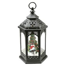 Darice Snowman Christmas Tree Lantern - Hanging Holiday LED Accent Light