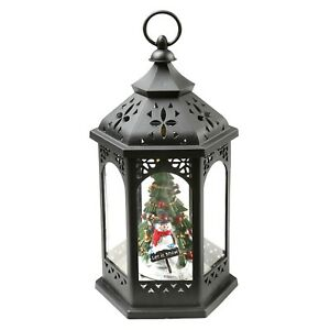 Darice Snowman Christmas Tree Lantern - Hanging Holiday LED Accent Light