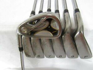 Used LH TaylorMade R7 Draw Iron Set 4-P Stiff Flex Steel Shafts