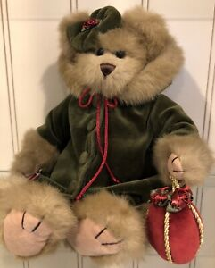 """Bearington Bears - Decorating the Tree 14"""" Plush Bear 2002 With Tag and Stand"""