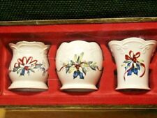 Lenox Winter Greetings Set Of 3 Votives Holders New In Box