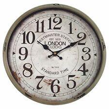 Metall Wanduhr mit Glasscheibe Vintage Design London lackiert ca.  30 cm