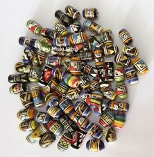 200 PERUVIAN CERAMIC BEADS - 10-14mm - MIXED COLORS and DESIGNS