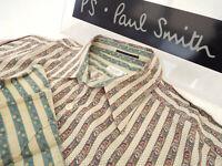 """PAUL SMITH Mens MAINLINE Shirt 🌍 Size M (CHEST 40"""") 🌎RRP £195+📮 FLORAL STRIPE"""