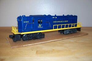 LIONEL POSTWAR TRAIN #2365 CHESAPEAKE & OHIO GP-7 DIESEL ENGINE