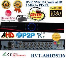 DVR 16 CANALI IBRIDO ANALOGICO/DIGITALE AHD / DVR / NVR / HVD PROFESSIONALE