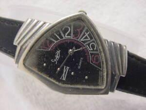 Vintage large antique Art Deco Space Age SHEFFIELD VENTURA ASYMMETRIC mens watch